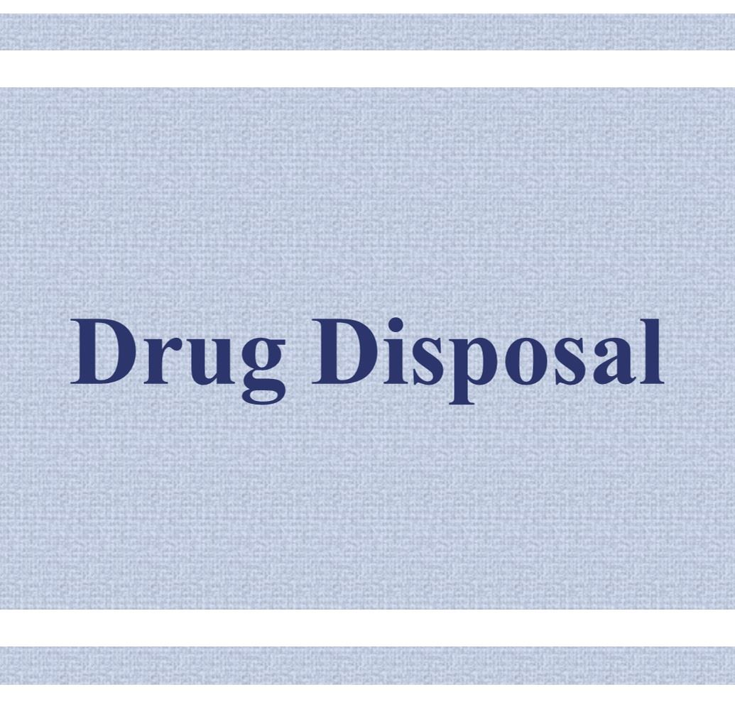 Drug Disposal Button