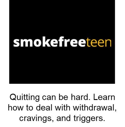 Smoke Free Teen Opens in new window